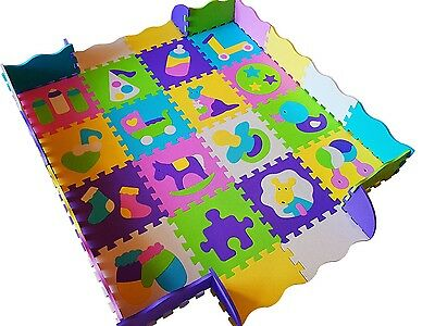 Baby Mat Activity Educational Play Foam Big 36pcs