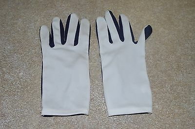 PARADE GLOVES, FLASH COLORED Dance Gloves White & Navy, One Size Fits All (?)