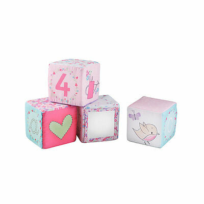 New ELC Girl My Little Garden Soft Cubes Toy From Birth