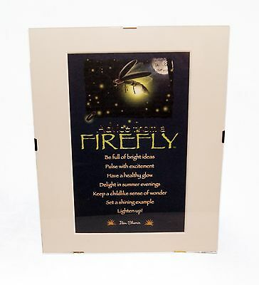 """Advice from a Firefly Inspirational 8"""" x 10"""" Matted Picture Art w/ Clip Frame"""