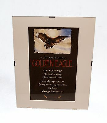 """Advice from a Eagle Inspirational 8"""" x 10"""" Matted Picture Art w/ Clip Frame"""