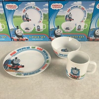 Royal Worcester 3-piece Thomas The Tank Engine Childrens Dinner Set *New & Boxed