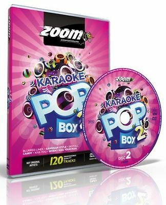 Zoom Karaoke Pop Box 2 DVD 4 Disc Set PAL Region Free New Sealed