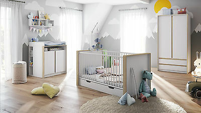 """Diaper Changing Table Baby Dresser convertible """"Nandini"""" in white"""