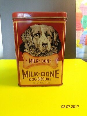 Milk Bone Dog Biscuits Metal Container Limited Edition Collectors Tin