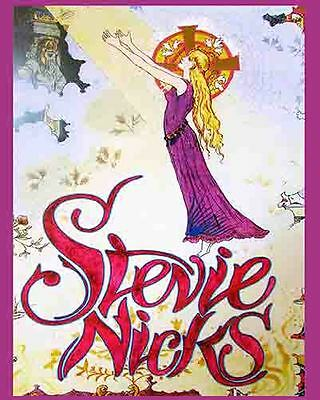 Stevie Nicks      1980's   Vintage  Promotional  Concert  Poster   Fleetwood Mac