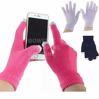 Thermal Knitted Touch Iphone Screen Stretch Ladies Boys Girls Winter Gloves