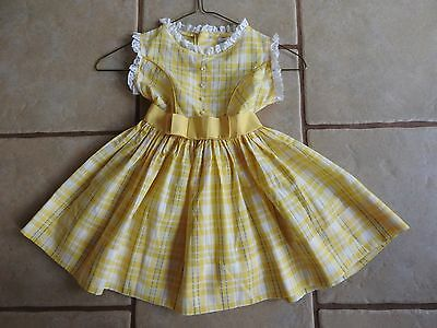 Vintage Cinderella Frock Toddler Girls Dress Sz 3 Shirley Temple Inspired 1940s