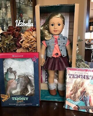 American Girl Tenney Grant Doll & Book WITH SPOTLIGHT OUTFIT Tenny NEW