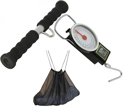 Ngt Carp Fishing Weighing Sling + Scales With Tape Measure + Deluxe Weigh Bar