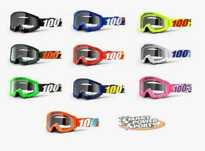 100% STRATA Goggles -ALL COLORS- Offroad MX Motocross - Clear Lens - FREE SHIP