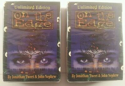 on the edge trading cards, on the edge ccg starter deck x2