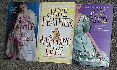 Lot Of 3 Jane Feather Historical Romance Books Regency