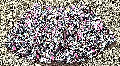 NWT Toddler Girl's Blue Pink Floral Skirt 2T