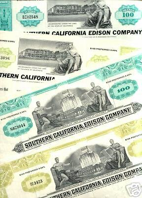 3 DIF XX-RARE SO. CALIFORNIA EDISON STOX @ 4.16! 30's LOS ANGELES VU! ONLY HERE!