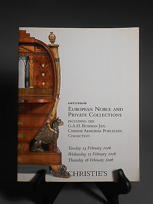 Christie's Amsterdam European Noble & Private Collections February 2006 Catalog