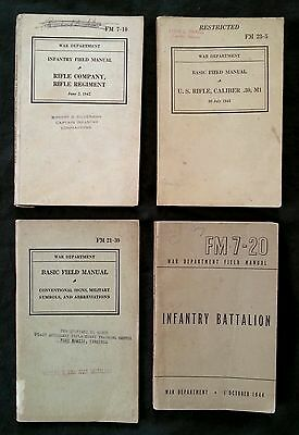 WW2 War Department army 8 manuals + army life pamphlet 1941-1944,