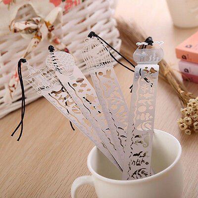 1PC Creative Paper Clips Ruler Shaped Metal Bookmarks Cute Bookmarks Useful