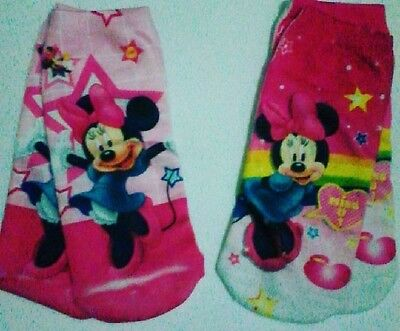 2 Pairs, MINNIE MOUSE SOCKS, Fits Age 4 to 8 yrs, CLEARANCE PRICE