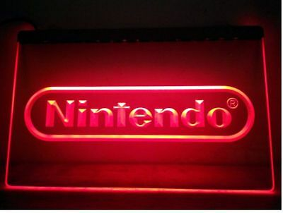 "Nintendo 12"" x 8"" Led Neon Sign game room"