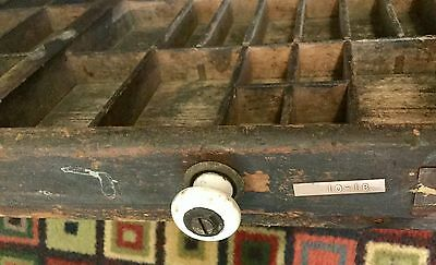 03 Antique Wood Printing Tray Letter Press Ink Drawer Wood Shaddow Box Drawer