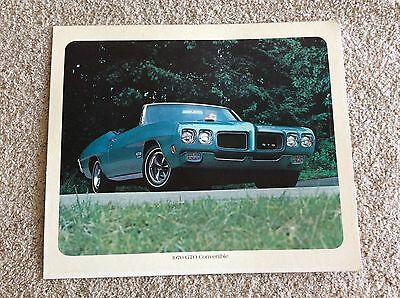 1970 Pontiac   GTO  conv.  original cardboard dealership showroom poster