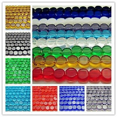 Free LOT NEW Glass Rondelle Spacer Loose Beads findings 6mm Many Colors Choose