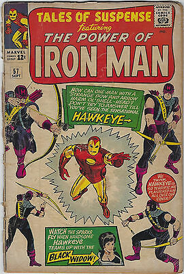Tales of Suspense #57 (1964, Marvel) 1st App Hawkeye, Stan Lee, Don Heck, Fa+/G