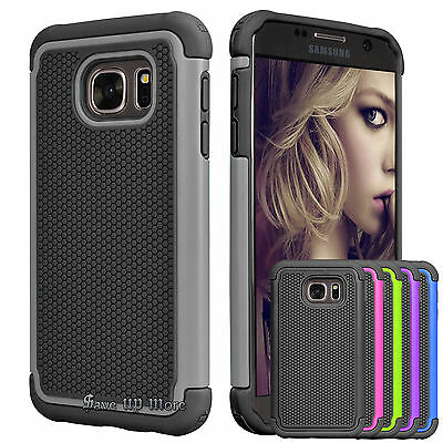 Armor Shockproof PC Rugged Rubber Hard Case Cover For Samsung Galaxy S7/S7 Edge