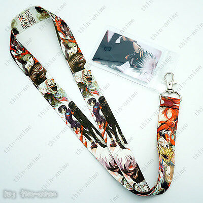 Anime Tokyo Ghoul Lanyard neck strap ID Badge Key Holder Neck Chains + Card Hot