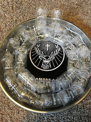 Jagermeister Jager Metal Tray & 24 Shot Glasses 17in NEW