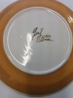 7 1/2 inch Gail Pittman Plate signed