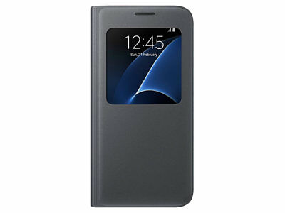 For Samsung Galaxy S7 Edge S-View Book Cover Flip Window Case Cover