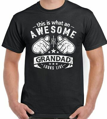 D2SP This Is What An Awesome Grandad Looks Like Mens Funny Fathers Day T-Shirt