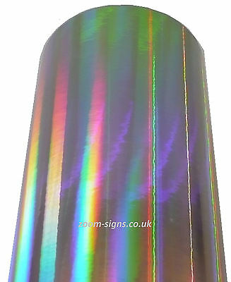BUY 2 GET 1 FREE! 1m ROLL or A4 SHEET IRIDESCENT STICKY BACK PLASTIC SIGN VINYL