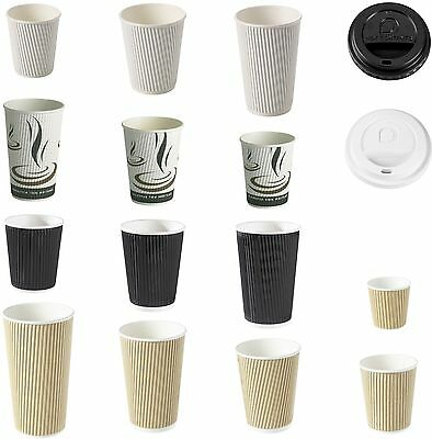Ripple Paper Cups for Hot Drinks, Triple layer, Kraft, Disposable coffee cup