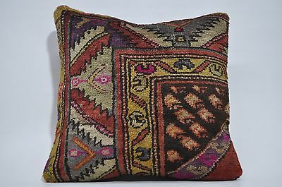 Large Pillow Vintage Turkish Rug Pillow 20x20 HandMake Floor Cushion Cover 209
