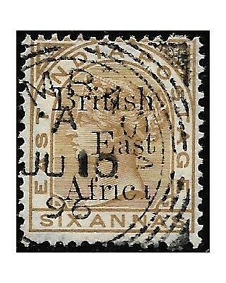 British East Africa 1895 Victoria, India stamps ovpt. SG.49/63 MH (6a.used) F451