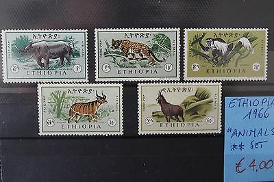 "Ethiopia 1966 ""animals"" Mnh** Set (Cat.2)"