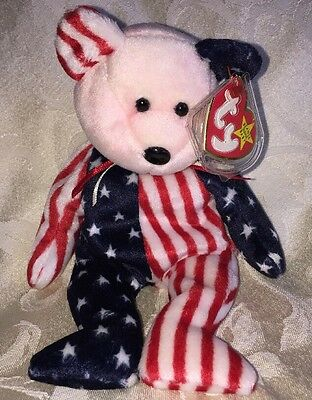 Ty Beanie Baby 1999 Spangle Pink Red Face* Error, Authentic, Rare Sale/free Ship