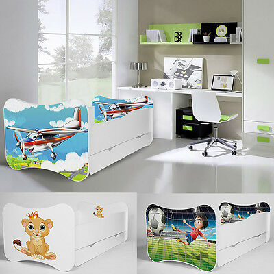 New Toddler Children Kids Bed 140x70 or 160x80 with Mattress Drawer BOYS & GIRLS