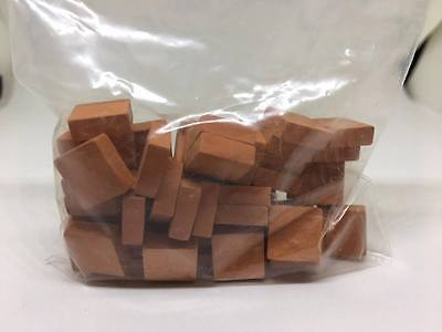 1:12th scale MINIATURE DOLLS HOUSE pack of 50 ceramic red floor tiles