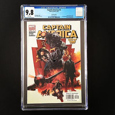 Captain America #6 Cgc 9.8 Mt/nm Wp 1St Appearance Winter Soldier Variant Cover
