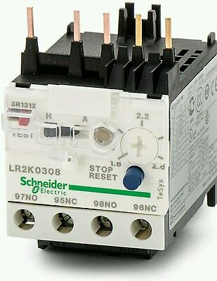 Schneider Electric LR2 K0308 Thermal Overload Relay 1.8-2.6A 3 Pole TeSys 023044