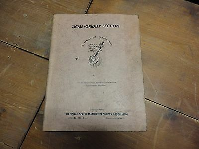 Acme Gridley Setup Manual for on the job instruction on screw machines