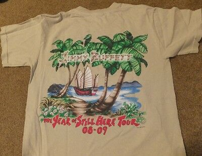 Jimmy Buffett The Year Of Still Here Tour 08-09 T-Shirt S Concert Gildan Adult
