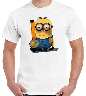 Stoned Minion - Mens Funny Minions T-Shirt Weed Bong Spliff