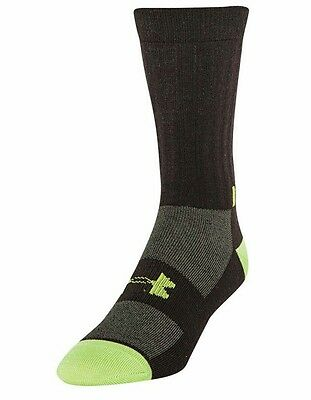 Under Armour Mens Infrared Light Crew Coldgear Socks Timber/Velocity L Or XL