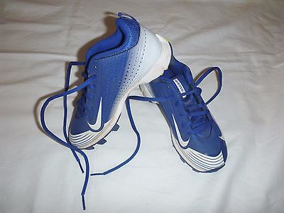 Nike Vapor Bsbl Cleats Blue/white Boy Girl Baseball Shoes Pre Owned 13 Us 31 Eu