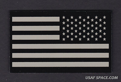 AUTHENTIC US MILITARY IR INFRARED REFLECTIVE Reverse Facing US FLAG PATCH ~ MINT